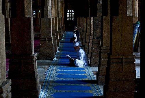 Post, Church, Inside, People, Men, Praying, Reading