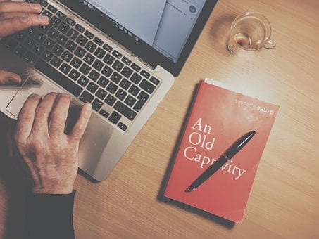Book, Pen, Study, School, Cup, Glass, Apple, Macbook