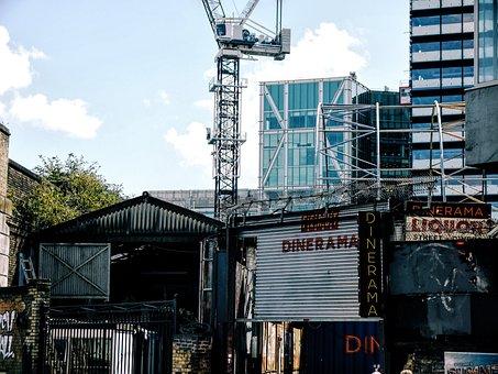 Building, Construction, Crane, Steel, Metal, Wall