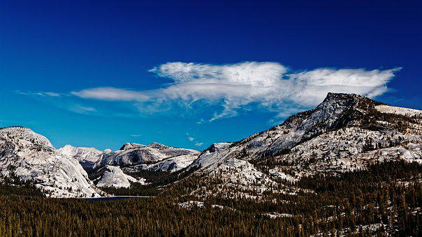 Landscape, California, National Park, Usa, Yosemite