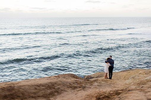 People, Couple, Man, Girl, Sea, Water, Wave, Ocean