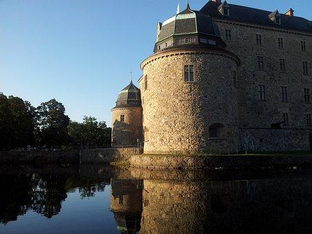 örebro Castle, Castle, örebro, View, Water, Sweden
