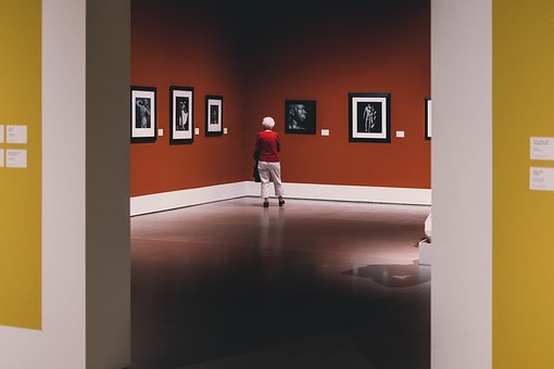 Alone, Solo, Art, Gallery, Museum, Travel, Red, Sad