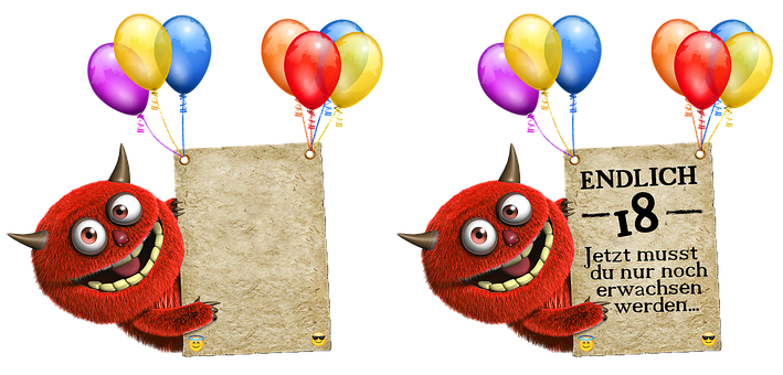 Birthday Card, Balloons, Color, Birthday, Ballons