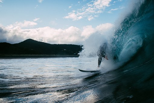People, Guy, Surfing, Sport, Board, Wave, Sea, Water
