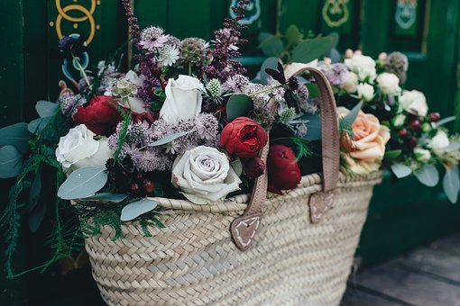 Colorful, Roses, Flowers, Petals, Bunch, Green, Fern