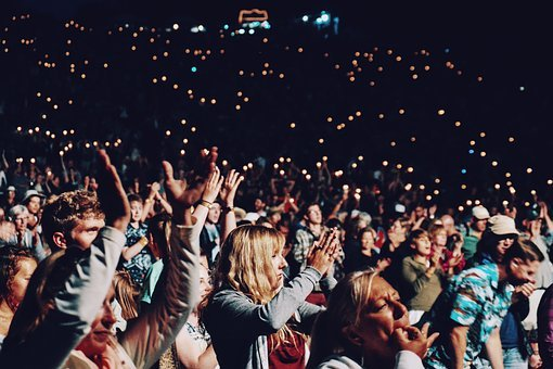 People, Crowd, Hands, Clapping, Party, Concert