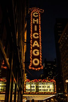 Night, Dark, Lights, Building, City, Structure, Chicago