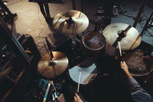 Music, Instrument, Drums, Drummer, Musician, Set, Stage