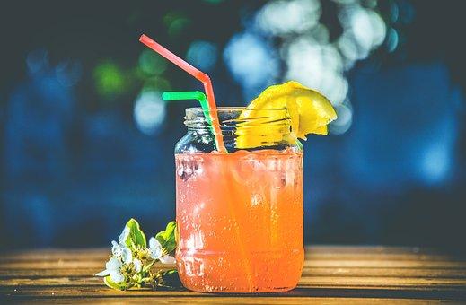 Glass, Juice, Lemon, Fruit, Garnish, Cold, Drinks