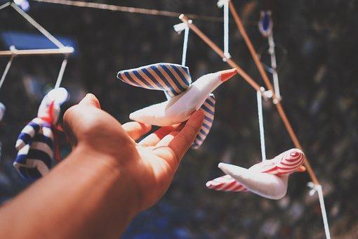 Blur, Hand, Bird, Toy, Puppet, Hang