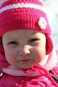 Child, Baby Girl, Pink, Hat