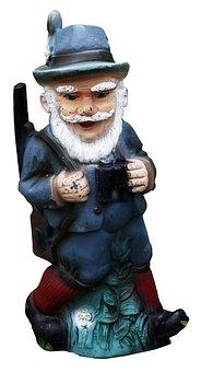 Hunter, Ceramic, Weathered, Old, Decoration, Figure