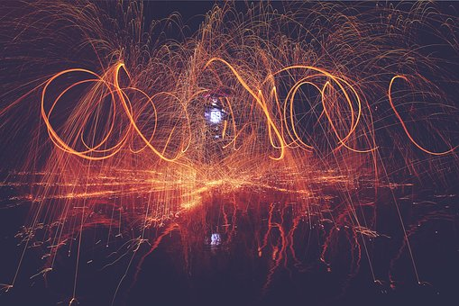 Fire, Lights, Spark, Flame, Bonfire, Firedance, People