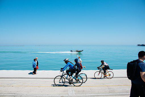 Bicycle, Sport, Health, Fitness, Exercise, Sea, Ocean