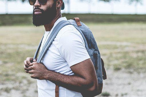Guy, Man, Beard, Sunglasses, Backpack, Student, People