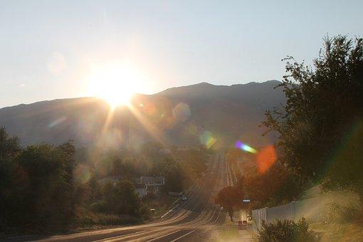 Sunrise, Wasatch Mountains, Taylor, Utah, Nature