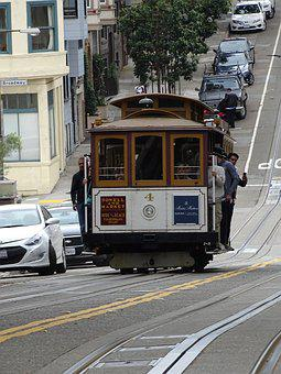 Tram, San Francisco, America, Francisco, Travel, Car