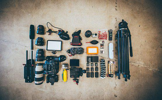 Photography, Photographer, Camera, Microphone, Tripod