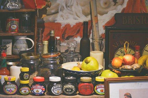 Food, Bottle, Jar, Jam, Apple, Fruit, Wine, Bowl, Store