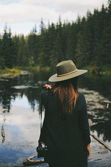 People, Girl, Woman, Camera, Federa, Nature, Water