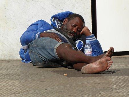 Homeless, Wanderer, Immigrant, Clochard, Sleep, Street