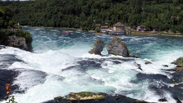 Rhine Falls, Schaffhausen, Water, Spray, Enormous