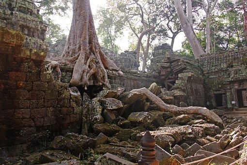 Ta Prohm Temple, Tomb Raider Fame, Temple, Travel