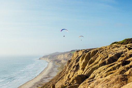 Coast, Parasail, Adventure, Live, Life, Alive, Wild