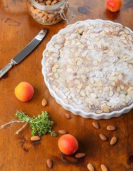 Apricot, Frangipane, Tart, Almonds, Lemon Thyme, Baking