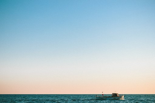 Nature, Water, Ocean, Sea, Surface, Calm, Boat, Vessel
