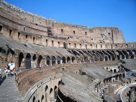 Rome, Colosseum, Italy, Antiquity, Arena, Gladiators