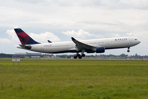 Plane, Runway, Airline, Schiphol, Countries, Delta