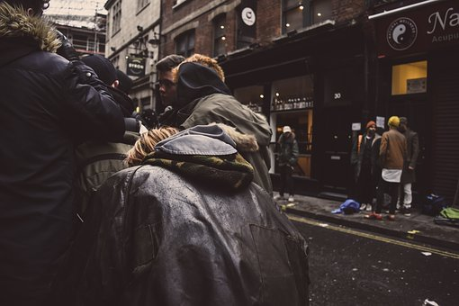 People, Group, Crowd, Winter, Autumn, Fall, Fashion