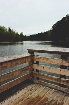 Nature, Water, River, Lake, Forest, Trees, Dock, Wooden