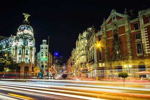 Architecture, Buildings, City, Traffic, Light, Streaks