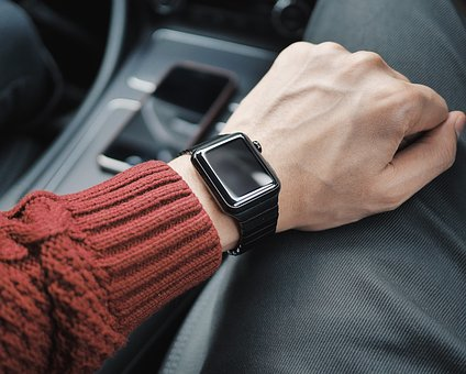 Guy, Man, Male, Arms, Wristwatch, Hold, Smartphone, Car