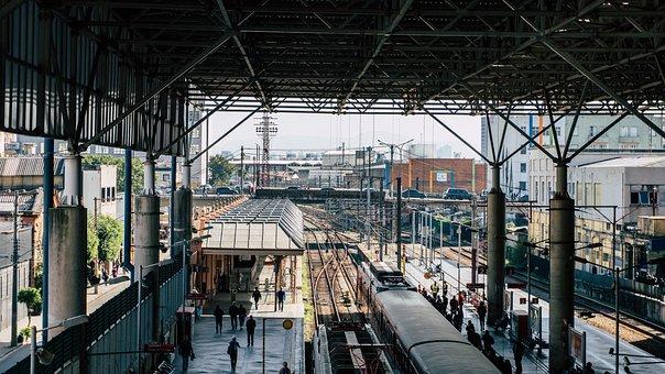 Architecture, Metro, Rail, Trains, Platform, People