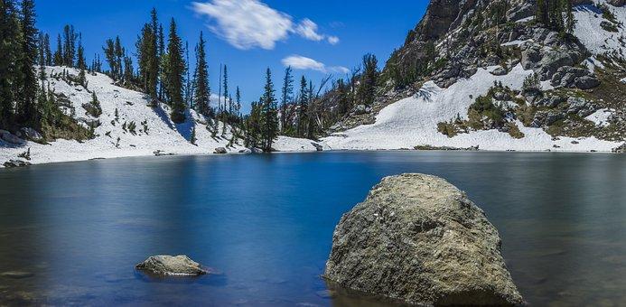 Nature, Landscape, Mountains, Slope, Snow, Summit