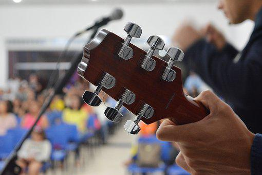 Guitar, Hands, Music, Microphone, Sound, Sounds, People
