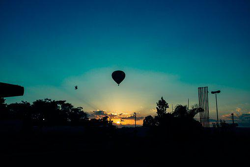 Nature, Landscape, Parks, Trees, Hot, Air, Balloon