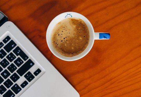 Espresso, Coffee, Macbook, Laptop, Computer, Office