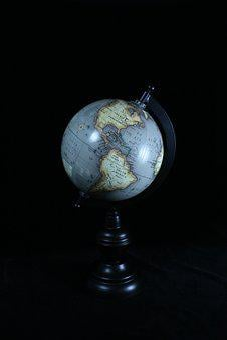 Globe, Map, North America, South America, Pacific Ocean