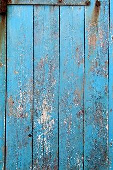 Still, Items, Things, Door, Wood, Panels, Vertical, Old