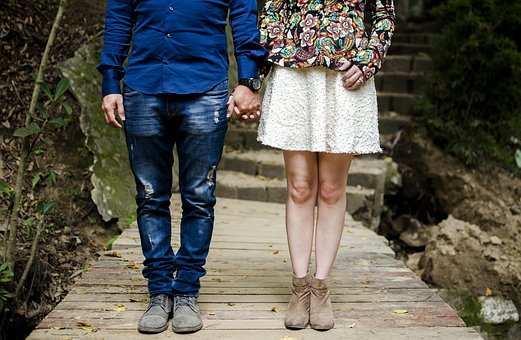 Men, Women, People, Couple, Lovers, Hold, Hands