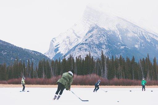 Hockey, Ice, Rink, Skates, Skating, Sports, People