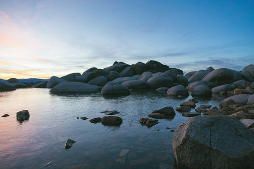 Nature, Landscape, Coast, Beach, Shore, Rocks, Water