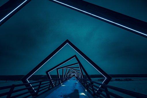 Architecture, Structures, Bridges, Modern, Art, Paths