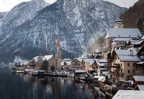 Nature, Waterfront, Town, Village, Houses, Residential