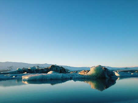 Nature, Landscape, Coast, Ice, Icebergs, Islands, Water